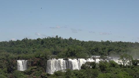 031 Iguazu waterfalls , viewed from Brazil , slowm Stock Video Footage