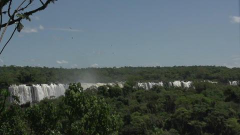 041 Iguazu waterfalls , viewed from Brazil , slowm Footage
