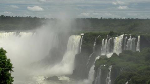 057 Iguazu waterfalls , viewed from Brazil Stock Video Footage