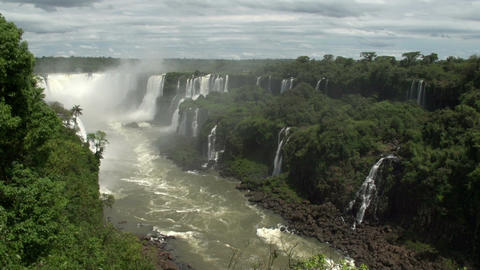 059 Iguazu waterfalls , viewed from Brazil Stock Video Footage