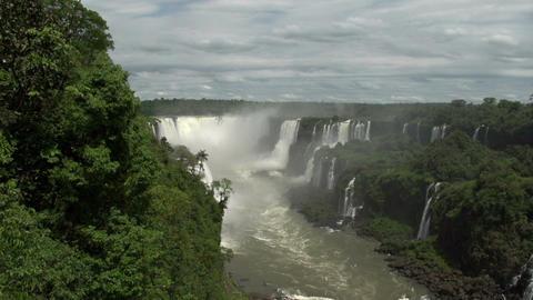 061 Iguazu waterfalls , viewed from Brazil Footage