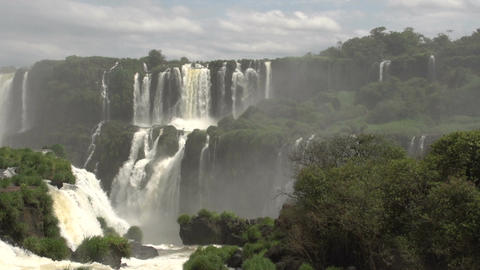 070 Iguazu waterfalls , viewed from Brazil Stock Video Footage