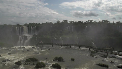 076 Iguazu waterfalls , timelapse 1fps Stock Video Footage