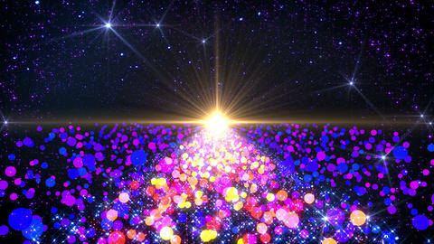Space Colorful Dot B 3b 4k Stock Video Footage