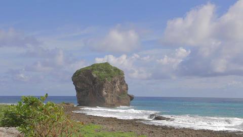 sail rock (nixons head) at kenting beach Footage