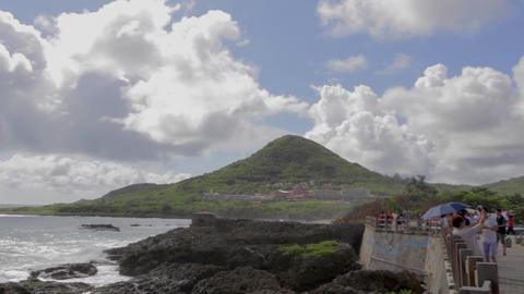 pan - sail rock (Nixon's head) at kenting beach Footage