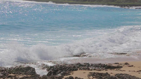 slow motion ocean waves at kenting beach Footage
