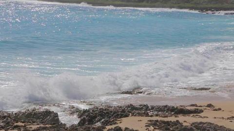 slow motion ocean waves at kenting beach Footage