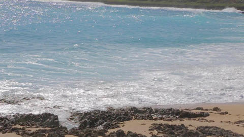 slow motion ocean waves at kenting beach Stock Video Footage