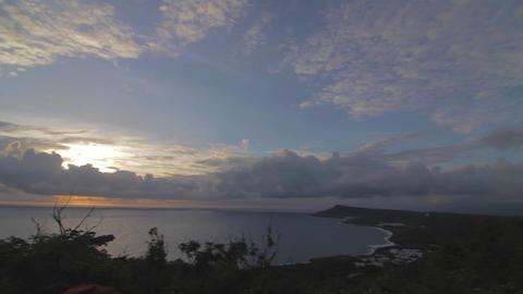 pan at guanshan mountain post sunset Footage