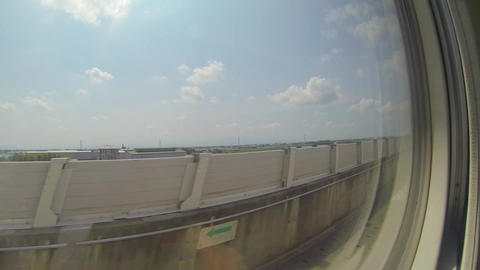 view from high speed train from taipei to kaoshiun Stock Video Footage