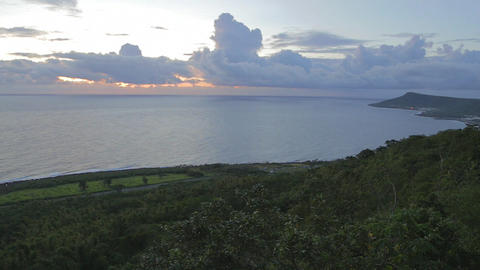 wide view sunset at guanshan Footage
