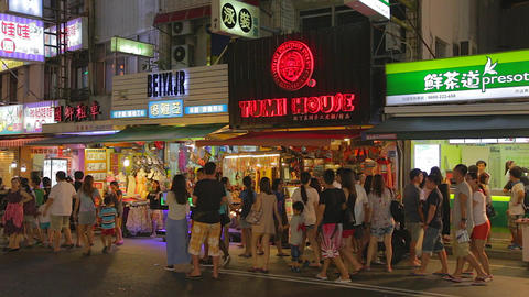 Pingtung Night Market - popular section of night m Live影片