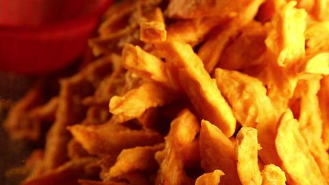 Pingtung Night Market - close sweet potato fries Live Action