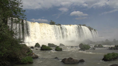 074 Iguazu waterfalls , slowmotion Footage