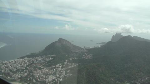 007 Rio , Helicopter flight above Rio , Corcovado  Footage