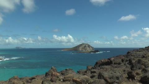 rabbit island or manana island at oahu hawaii Footage