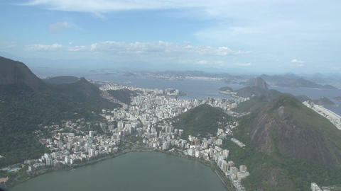 011 Rio , Helicopter flight , Aerial , Christ the  Footage