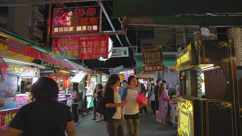 Ruifeng night market - people shopping in the mark Live影片