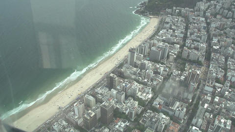 017 Rio , Helicopter flight above Rio , Copacabana Stock Video Footage