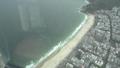 017 Rio , Helicopter flight above Rio , Copacabana Footage