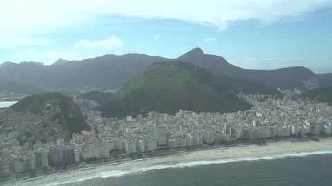 019 Rio , Helicopter flight , Aerial , Ipanema bea Footage