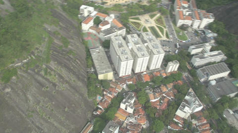 022 Rio , Helicopter flight above Rio , aerial , b Stock Video Footage