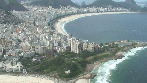 031 Rio , Helicopter flight , Aerial , Rio City ,  Footage
