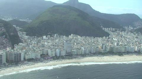 032 Rio , Helicopter flight , Aerial , Rio City ,  Footage