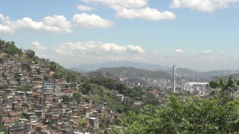 037 Rio , Overview city , Maracana stadium , Favel Stock Video Footage