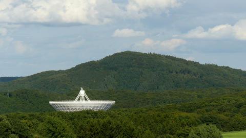 4k UHD huge radio telescope valley time laps 11474 Footage