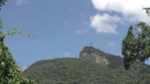 050 Rio , Christ the Redeemer on blue sky Footage
