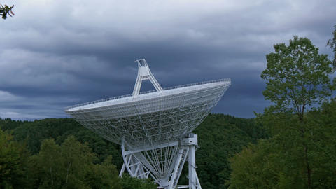large radio telescope dark clouds 11477 Footage