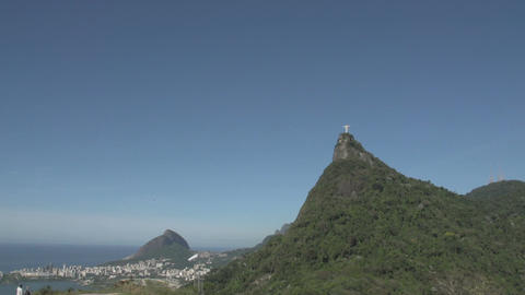060 Rio , Christ the Redeemer , Rodrigo de Freitas Footage