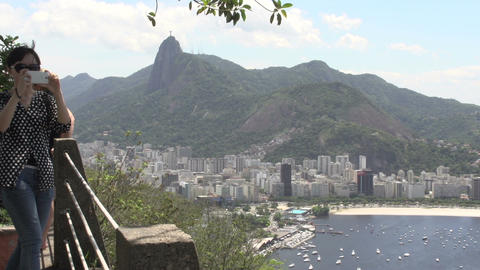 093 Rio , overview from above the Sugarleaf Mounta Stock Video Footage