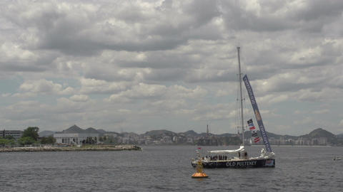 0104 Rio , Clipper boat leaves harber , airoplane  Footage