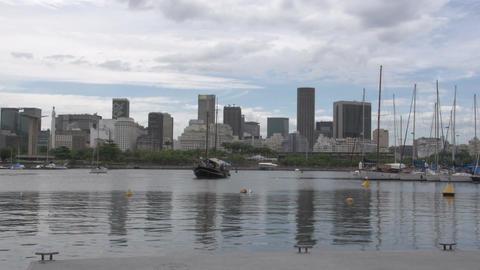0111 Rio , skyline , harber , boat Footage