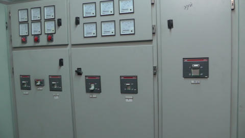 distribution boards electrical substation Stock Video Footage