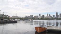 0114 Rio , skyline , harber , boat Footage