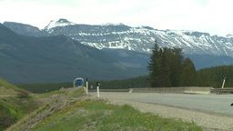 HD2008-6-6-18 TCH semi truck summer traffic mtns Footage