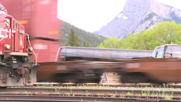 HD2008-6-6-66 intermodal train Stock Video Footage