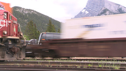 HD2008-6-6-66 intermodal train Stock Video Footage