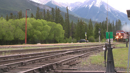 HD2008-6-7-1 Interodal train Banff fast Footage