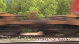 HD2008-6-7-3 Interodal train Banff fast Stock Video Footage
