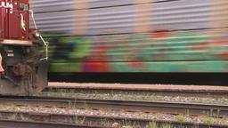 HD2008-6-7-5 Interodal train Banff fast Stock Video Footage