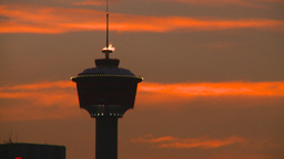 HD2008-6-8-4 Calgary tower flame Stock Video Footage