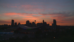 HD2008-6-8-6 sunset Calgary skyline Footage
