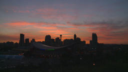 HD2008-6-8-6 sunset Calgary skyline Stock Video Footage