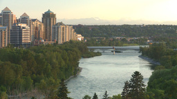 HD2008-6-9-49 Calgary evening skyline Stock Video Footage