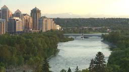 HD2008-6-9-49 Calgary evening skyline Footage
